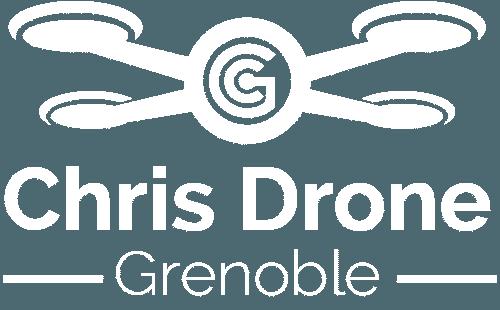 Chris Drone Grenoble logo blanc