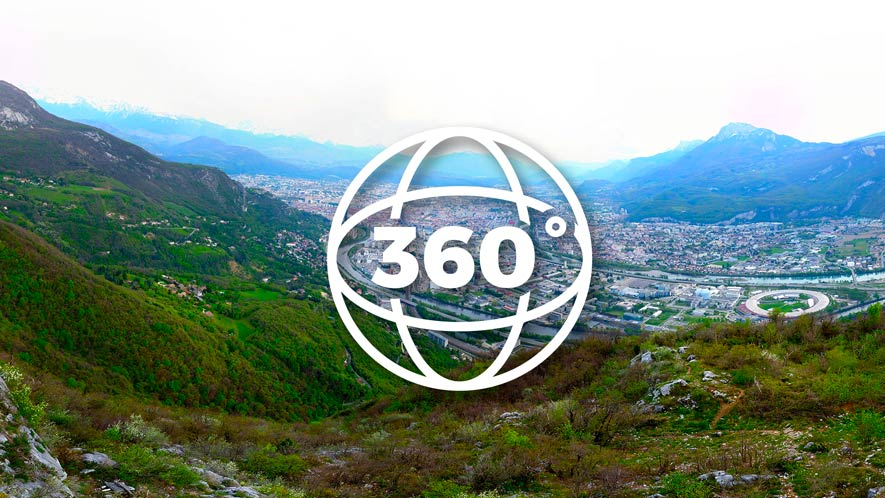 Grenoble vue depuis un drone sur le Mont-Rachais