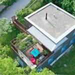 Photo aérienne d'une maison pour la vente immobilère