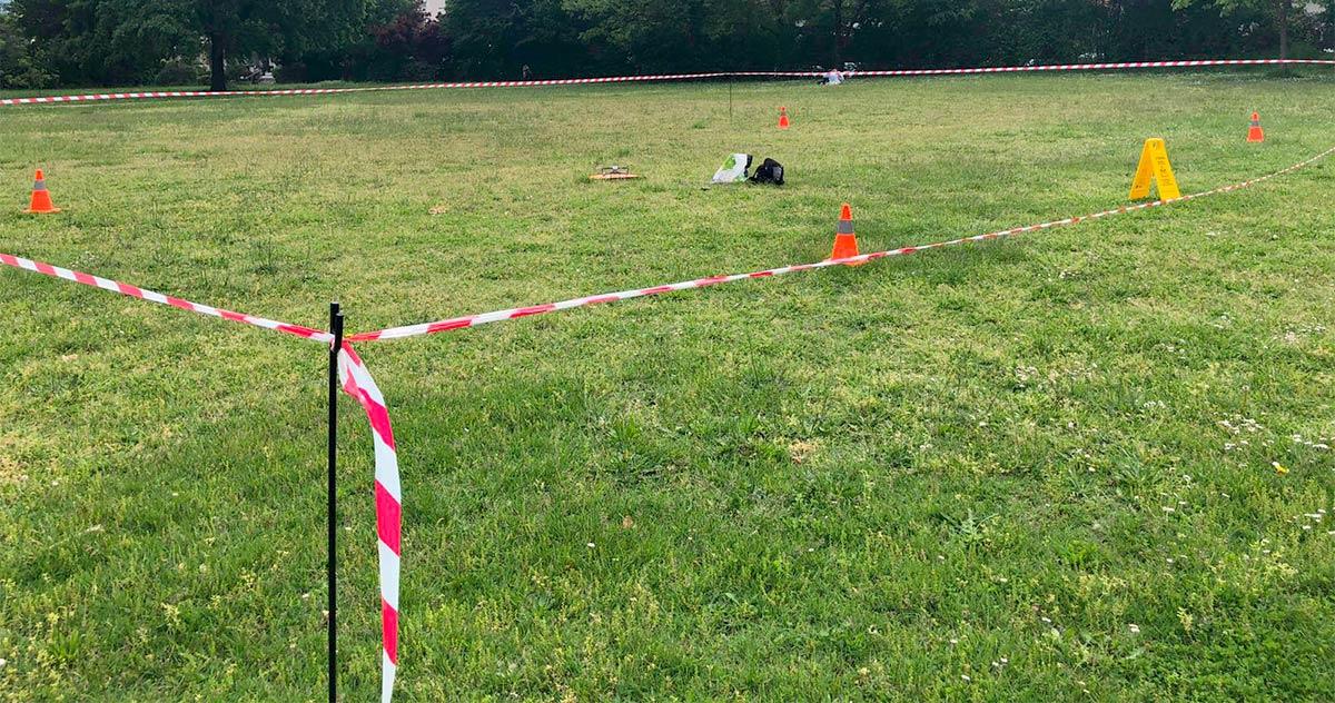 Zone sécurisée pour décollage d'un drone en S3