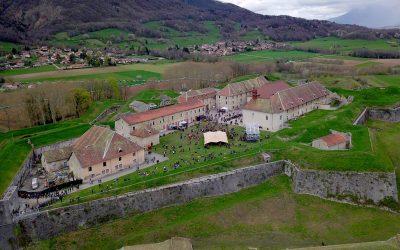 Prise de vues vidéo drone pour les Détours de Babel au Fort Barraux
