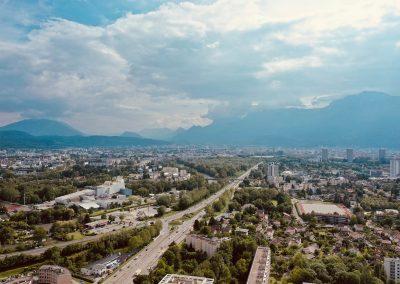 Vue de Meylan et Grenoble pour insertion 3D en plan large