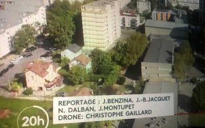 Images de Grenoble pour le JT de 20h de France 2 sur les cantines scolaires