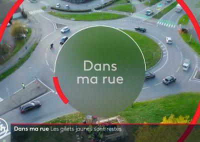 Image prise par un droniste grenoblois extraite du Jt de France 2 avec une vue sur Crolles et le rond point du Rafour