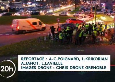 Chris Drone Grenoble crédité au Journal télévisé de france 2