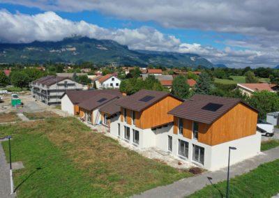 Maisons prise en photo par un drone