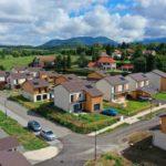 Ecoquartier en Isère photographier par un drone