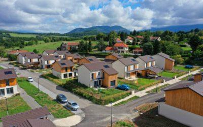 Reportage photographique avec un drone pour un Écoquartier à Champagnier dans la région de Grenoble