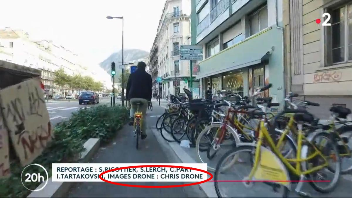 JT France 2 Avec Chris Drone Grenoble