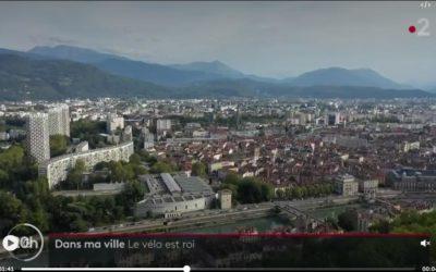 Images par drone pour un sujet sur le vélo à Grenoble pour le JT de France 2